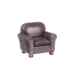 New Brown Leather Club Chair