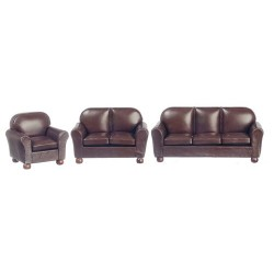 New Brown Leather Living Room Set/3