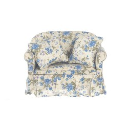 Blue Floral Loveseat