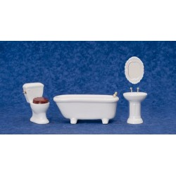 White Bathroom Set/4