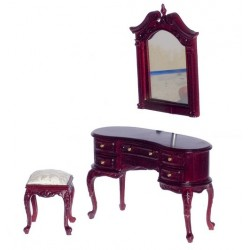 Queen Anne Dressing Table w/mirror & Bench