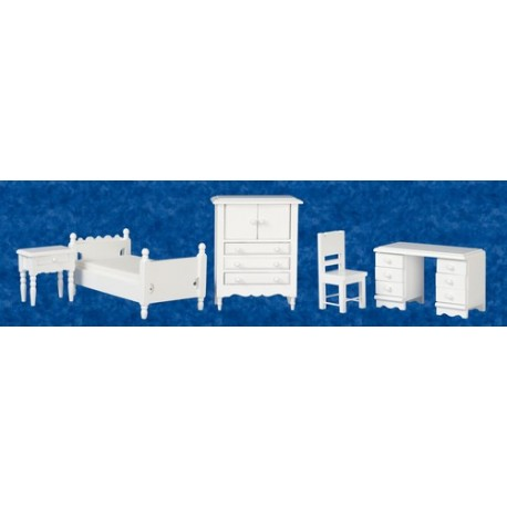 Single Bedroom Set/5/wht