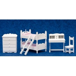 Bunkbed Set/5/pink Fab/w