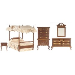 Canopy Bedroom Set/5/Walnut