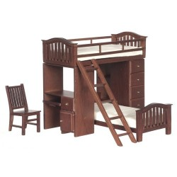 Bunkbed Set/Walnut