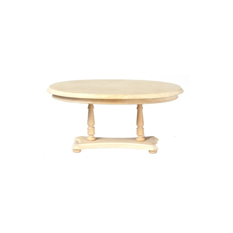 Oval pedestal dining room table