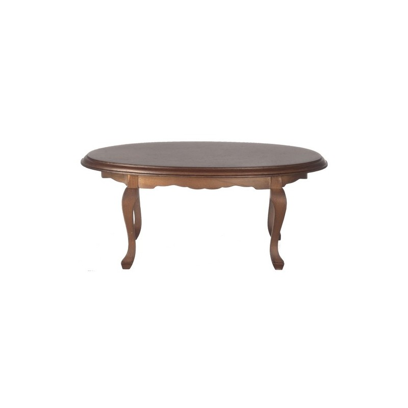 oval dining table walnut dollhouse dining room table