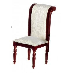 Side Chair w/wh.fab/Mahogany