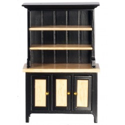 Hutch/black/oak