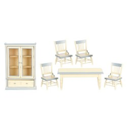 Dining Set/6/white/bl.trm