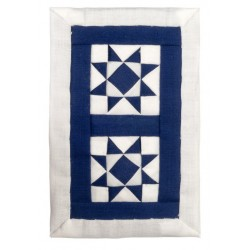 Wh/blue 2-star Sm.quilt*