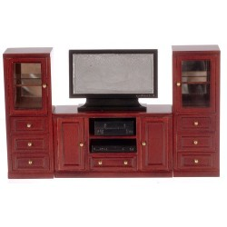 Entertainment Center/set/6/Mahogany