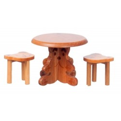 Small Table w/2 Bear Stls