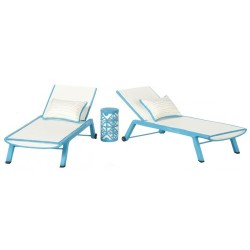 Blue Sun Chaise Set/3