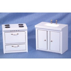 Stove And Sink/white