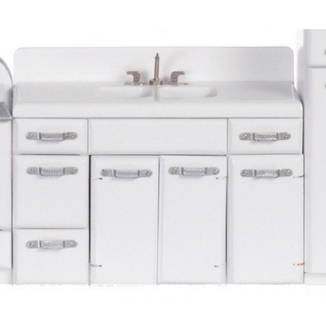 1950's Double Sink/white
