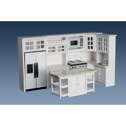 Kitchen Set/8/wht/marble