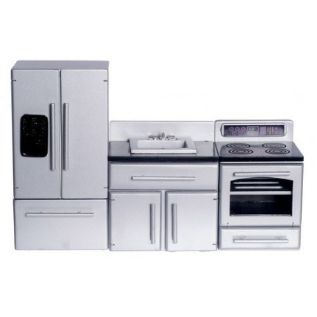 Silver Appliance Set/3/blk Top