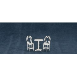 Cafe Table/2 Chairs/white