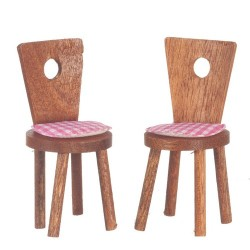 2 Cute Chairs/Walnut
