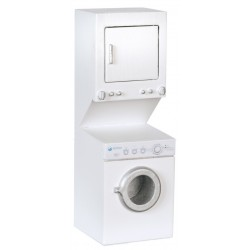 Stacked Washer/dryer/white