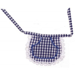 Waist Apron/navy Plaid