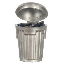Silver Garbage Can/filled