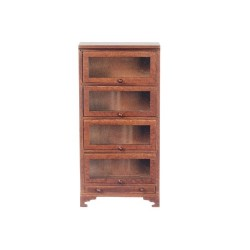 Bookcase/4 Glass Doors/wa