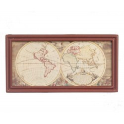 Ancient Map/wood Color Fr