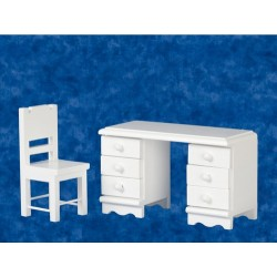 Desk & Chair Set/white