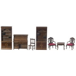Library Set/7/Walnut