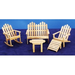 Adirondack Furn.set/5/oak
