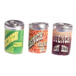 Quench Soda Cans/3/asst