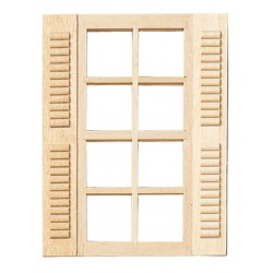 8-lite Window w/shutters
