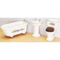 Clawfoot  Bath Set  3  White  Bx