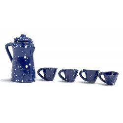 Blue Spatter Coffee Set/5