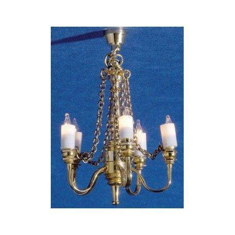 Chandelier, 5 arm Palace