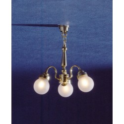 3-arm Frosted Globe Chand