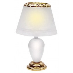 White Teardrop Table Lamp