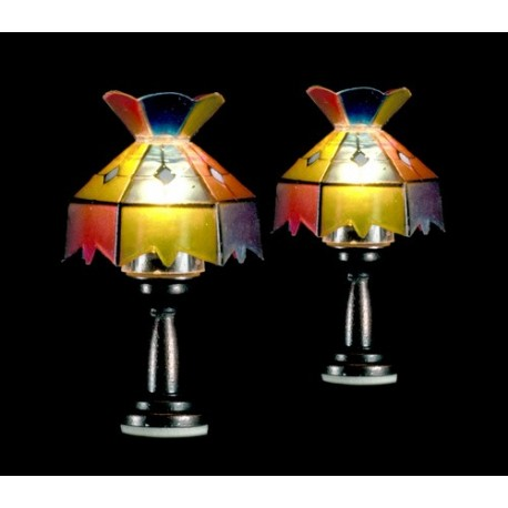 Tiffany table lamps 2 12v dollhouse miniature lamps for 12v table lamp