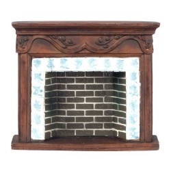 Brown Resin Fireplace Mantle