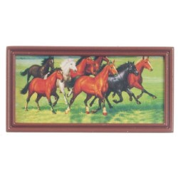 Horses In Brown Metal Frm