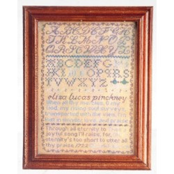 Sampler In Wood Frame