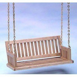 Oak front porch Swing, perfect for your dollhouse porch
