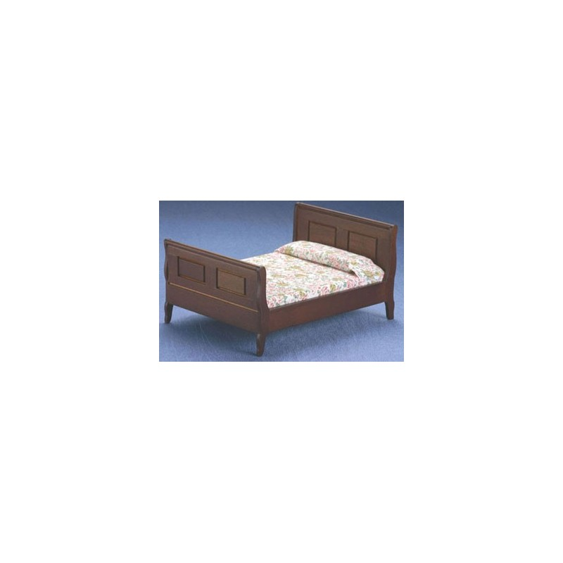 victorian walnut sleigh bed dollhouse bedroom furniture