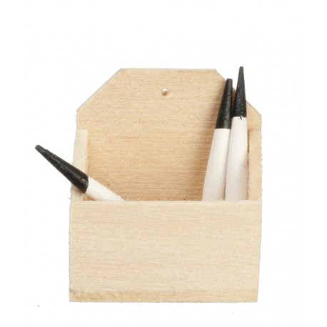 Basswood Candle Box w/can