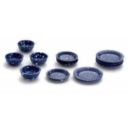 Blue Spatter Dishes/12