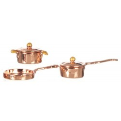 Copper Casserole Set/5