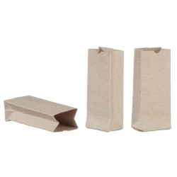 3 Small Brown Bags