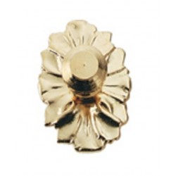 Medallion Knob/brass/2pc